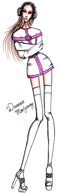 Chanel #3 by Derrence Montgomery Scream Queens by Derrence Montgomery Scream Queens 2 Hospital Chanel Oberlin illustration draw sketch bitch fashion heels