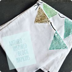 Painted fabric party napkins