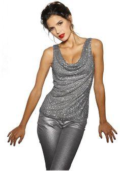 Топ - http://www.quelle.ru/heine/Woman_fashion/Tshirts_and_Tops/Woman_Tops_and_Sleeveless_shirt/Top__m288193.html?anid=pinterest&utm_source=pinterest_board&utm_medium=smm_jami&utm_campaign=board2&utm_term=pin24_21032014 Стильный топ с драпировкой - эффектная модель! Спереди украшен дополнительной сеточкой с пайетками. #quelle #top #glitter #luxury #glamour #style