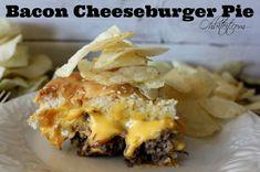 ~Bacon Cheeseburger Pie!   Oh Bite It