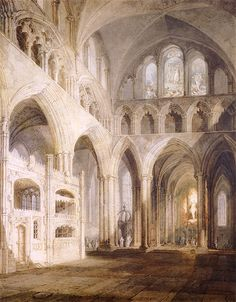 The Athenaeum - Choir of Salisbury Cathedral (Joseph Mallord William Turner - )