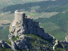 The Cathar Château de Quéribus in Southern France. www.audetourisme.com