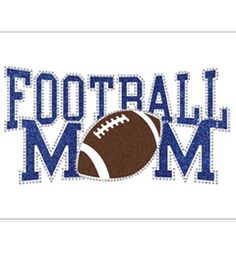 The Fashion District™ Iron-ons - Glitter Transfers - Sporty Football Mom
