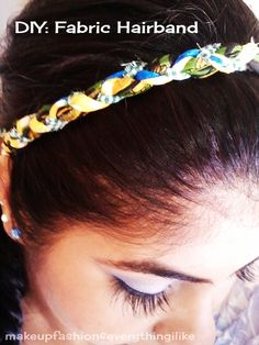 DIY: Hairband!!! with lace OR with fabric strips...