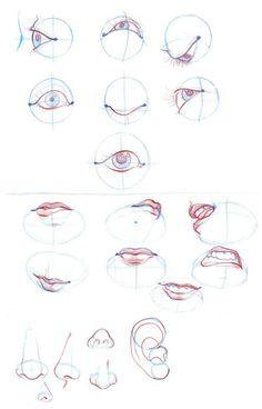 B.T.B- Eyes, lips, nose, ears by Liol