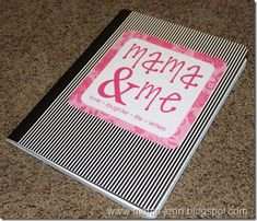 Love this idea!!!!! A book for back and forth letters between mother and daughter. Write and leave on daughters bed. when shes ready she can write back and leave on your bed. Back and forward you go. What precious memories you could create. Could do the same thing for dad's.