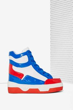 37f7cc26c9dc iiJin Flagged Patent Leather Sneaker | Shop Shoes at Nasty Gal! Sneakers  For Sale,