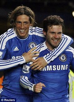 Torres and Mata.... Alyssa's favorite player and mine