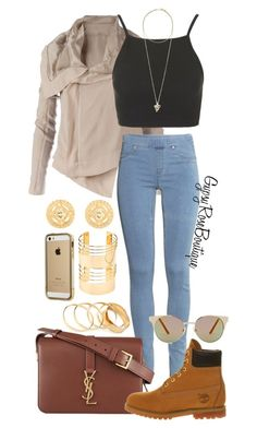 """""""#273"""" by gypsyroseboutique on Polyvore featuring Rick Owens, H&M, Topshop, Givenchy, Yves Saint Laurent, Timberland, Versace, Forever 21, Quay and Charlotte Russe"""