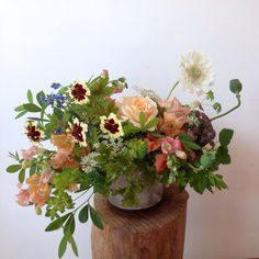 Coreopsis, Roses, Chantilly Snapdragons, Chinese forget me not, Scabiosa… July Flowers, Summer Flowers, Icelandic Poppies, Flower Farmer, Clematis, Flower Designs, Flower Arrangements, Wedding Flowers, Floral Design