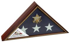 Urns Northwest  - Vice Presidential Military Flag Case with Gold Rope, $219.00 (http://urnsnw.com/vice-presidential-military-flag-case-with-gold-rope/). Made in the USA.