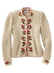Dornroschen sweater. WOLKENSTRICKER • wool/silk • hand knitted • hand embroidered • s,m,l • Germany