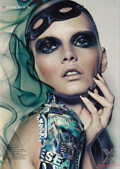 Black Magic | Lenka | Julia Saller  #photography | 1st Magazine December 2011 #fashion #FashionCherry