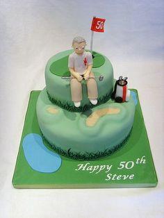 50th Birthday Golfing Cake #golfcakesformen Dad Birthday, Birthday Cake, Golf Party Favors, Dad Cake, Gifts For Golfers, Cakes For Men, Party Time, Good Food, Birthdays