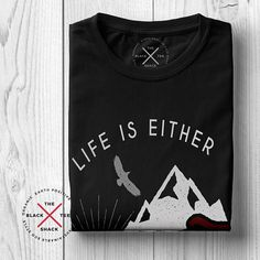 e22b2b1c Adventure Shirt Graphic tee Camping shirt T shirt Organic Cotton, Graphic  Tees, Shirt Designs