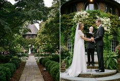 Fairytale garden ceremony   Delaware Wedding at Greenville Country Club