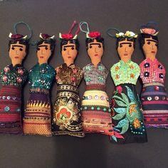 Handmade beaded Frida Kahlo dolls~Image by Fridadolls, 2014