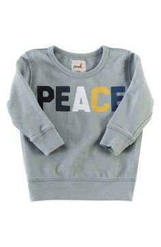 'Peace' French Terry Sweatshirt (Baby Boys)