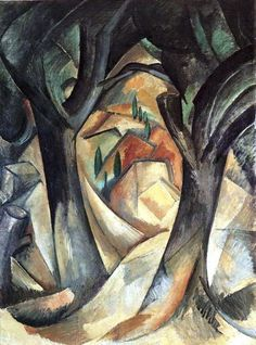 alongtimealone:    georges braque  distorted nature with geometric shapes