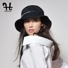 4f5021afff3 Furtalk Women s fashion Summer brand Sunhat Embroidery Cotton Bucket Hat  for women with Big Fold-up Brim Packable Hats