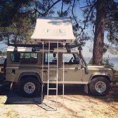 defender 110 tent camper