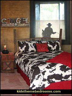 cowboy themed room thinking light blue walls with dark wood rope