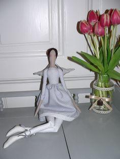 Tilda doll - Angel doll - Handmade - Vintage - Gift - Home decoration - Home decor - Interior SPRING by TundeFairys on Etsy