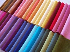 Wool Candy Collection of Hand Dyed and Felted Wool Fabric / W493 $71.75