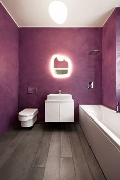 Beautiful & minimalistic purple bathroom #interior #design #bathroom