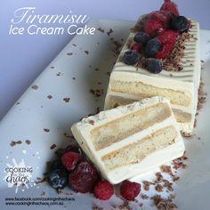 Tiramisu Ice Cream Cake - Thermomix Recipe - Cooking in the Chaos