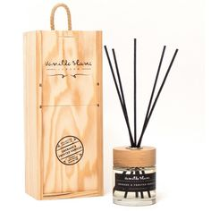 Vanilla Blanc - Grenade & Frosted Vanilla Reed Diffuser (€32) ❤ liked on Polyvore featuring home, home decor, home fragrance, vanilla reed diffuser, patchouli incense, home scents and vanilla incense