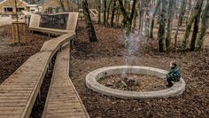Kebony at Wonder Wood playground Wood Playground, Natural Playground, Playground Design, Playground Ideas, Urban Landscape, Landscape Design, Garden Design, Contemporary Landscape, Denmark Landscape