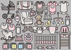 High quality vector clipart. Baby clipart! Cute Baby vector clip art. Kawaii Baby clipart set. Kawaii maternity clipart! A gorgeous set of beautiful baby icons! Perfect for creating greeting cards,invitations, gift wrap and stationery, decorating your blog or website, designing posters and room decor. Can be used for digital or print. Great for gift cards and wrapping paper, scrapbooking and blogs or websites. These high quality vector elements come in a fully editable illustrator file as…