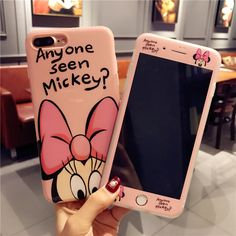 Para o iphone 7 plus 7 Casos Tampa do telefone Dos Desenhos Animados Mickey + Vidro Temperado Caso Protetor de tela para o iPhone Da Apple 6 6 s Plus 8 8 plus X