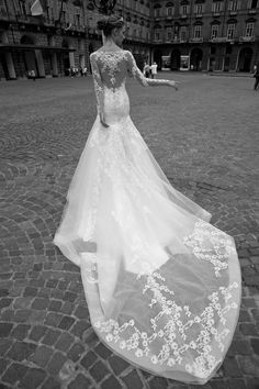 Column Wedding Dress 2016 Designers Wedding Dresses With Long Sleeves Alessandra Rinaudo V Neck Appliqued Beaded Tulle Sheath Bridal Gowns With Illusion Back Wedding Dresses Bridal From Nicedressonline, $195.81| Dhgate.Com