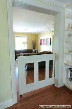 for dogs or kids! I want this I'm so over the stupid baby gate we always have to take down and put up