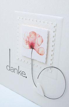 Sticken & Papier: Zum vierten Mal 'Danke' sagen