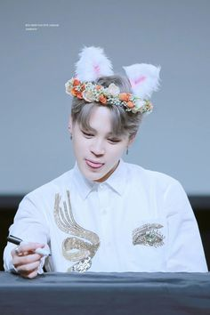 Jimin ❤ BTS at the Yeouido Fansign #BTS #방탄소년단