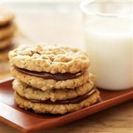Chewy Peanut Butter and Chocolate Hazelnut Sandwich Cookies and other Jif recipes