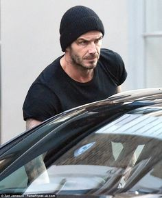 ~ always a classic ~ knit black beanie for men ~