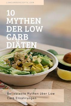 Low Carb Diäten sind sehr beliebt, aber einige der Dinge, die Sie über sie gehört haben, sind vielleicht nicht wahr. Hier sind 10 Mythen über Low Carb Diäten. Keto, Insulin Resistance, Plant Based Foods, Food Food, Metabolism