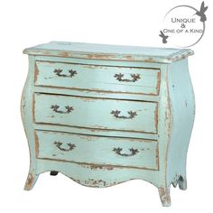 Sea Shore Distressed Chest of Drawers inspired by Jean-Baptiste-Camille Corot