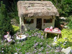Make Your Own Fairy Garden: 10 Magical Ideas: Fairy Garden Tea Party