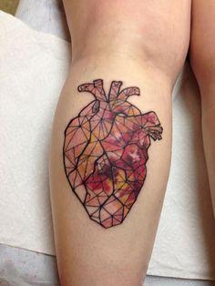 Watercolor Heart by Kristina Bennett - http://www.tattooideas1.org/placement/calf/watercolor-heart-by-kristina-bennett/