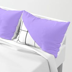 Grid and Lavender Blue Sky Pillow Sham by Bravely Optimistic | Society6