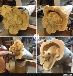 Choose your Awesome wood carving artworks by Mori. Holzschnitzen , Choose your Awesome wood carving artworks by Mori. Choose your Awesome wood carving ar. Tree Carving, Wood Carving Art, Wood Carvings, Chainsaw Carvings, Dremel, Art Sculpture En Bois, Wood Projects, Woodworking Projects, Woodworking Plans