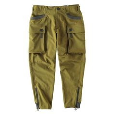 COLORED・STRETCH CARGO CROPPED KHAKI Cargo Pants, Khaki Pants, Work Pants, Work Wear, Trousers, Dressing, Menswear, Sporty, Mens Fashion
