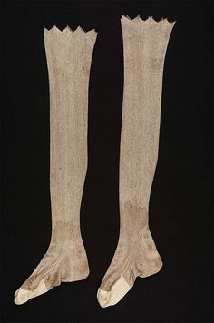 Silk and Cotton knit stockings from Massachusetts, late 18th century
