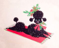 Chic Christmas poodle.