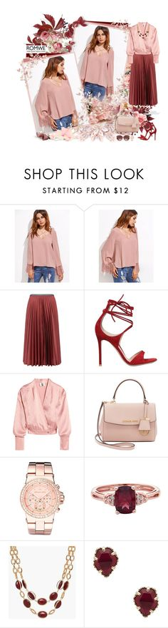 """WIN PINK TOP WITH ROMWE! - Contest!"" by asia-12 ❤ liked on Polyvore featuring Leur Logette, Gianvito Rossi, Topshop Unique, Michael Kors, Talbots, Kendra Scott and Salvatore Ferragamo"